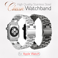 Claasic Luxury Stainless Steel Strap Buckle Watch Bands With Watch Band Adapter For Apple Watch Series 1 Series 2 iWatch