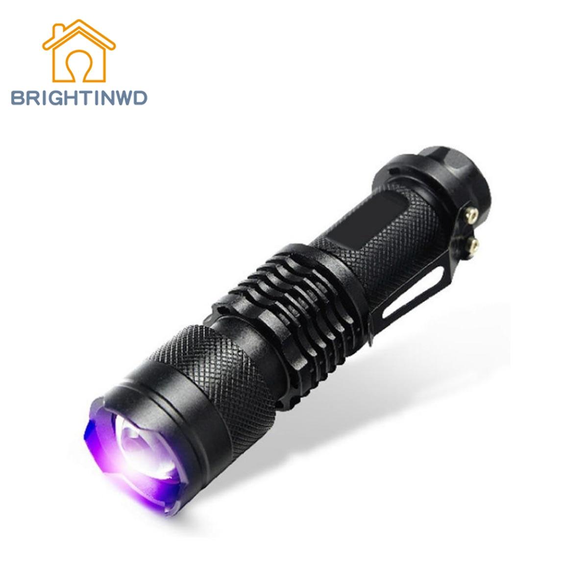 BRIGHTINWD UV Ultra Purple Violet Light UV Torch LED Flashlight Blacklight Light 365 NM Inspection Lamp Torch ...