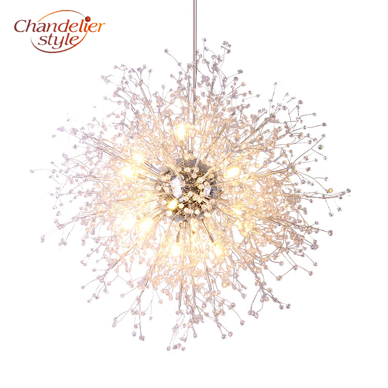 Modern Crystal Chandelier Lighting Globe Cristal Chandeliers Light Round Acrylic Hanging Lamp Fixtures for Home Restaurant