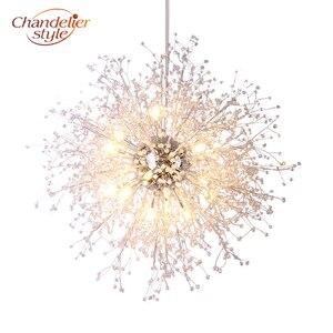 Image 1 - Lustre de cristal moderna iluminação globo lustres luz redonda acrílico pendurado lâmpada luminárias para casa restaurante decoração