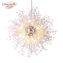 Modern Crystal Chandelier Lighting Globe Cristal Chandeliers Light Round Acrylic Hanging Lamp Fixtures for Home Restaurant Decor