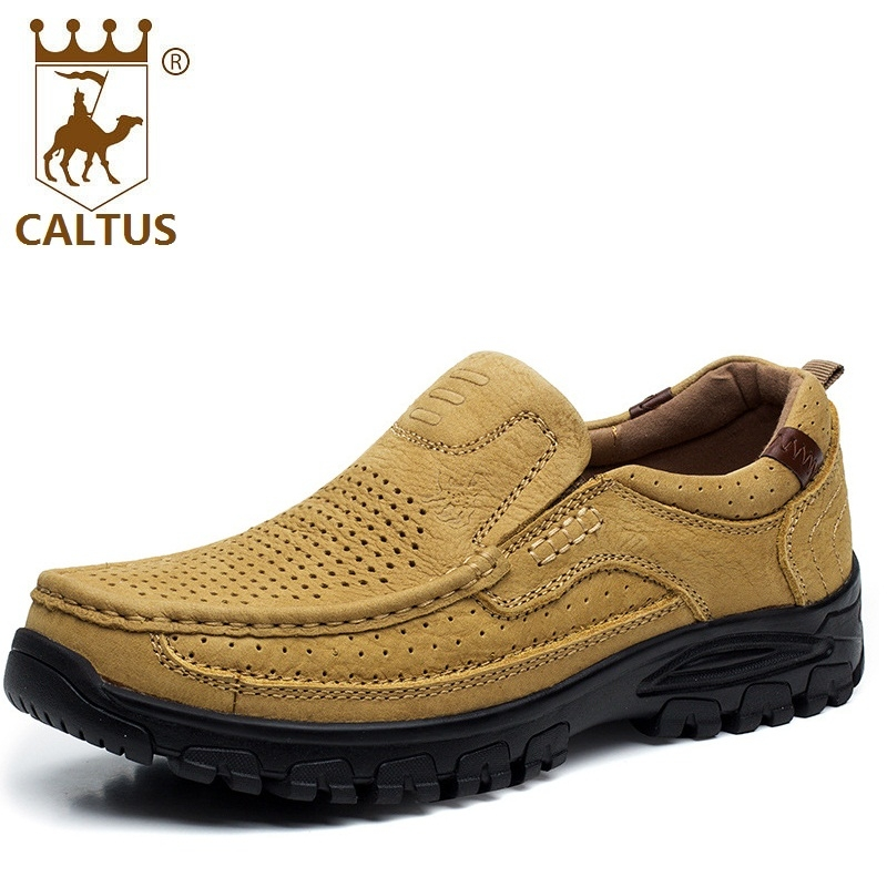 CALTUS 100% Genuine Leather Men Casual Shoes 2017 Soft Footwear Classic Flats Men Shoes Fashion High Quality AA20541 male casual shoes soft footwear classic men working shoes flats good quality outdoor walking shoes aa20135