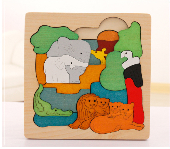 Wooden-multi-dimensional-storyteller-puzzle-jigsaw-cube-3-layers-Story-Cartoon-Dinosaur-Animal-Early-Educational-Montessori