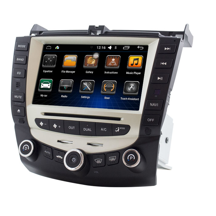 Free Shipping 8 Car DVD Player GPS Navigation System for Honda Accord 07 7 Support original on dashboard computer RDS Radio
