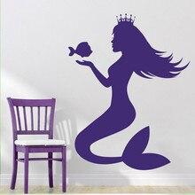 New Nursery Princess Mermaid Wall Decal Art Decor Sticker Vinyl Wall Decal  For Living Room Bedroom Girls Room Part 81