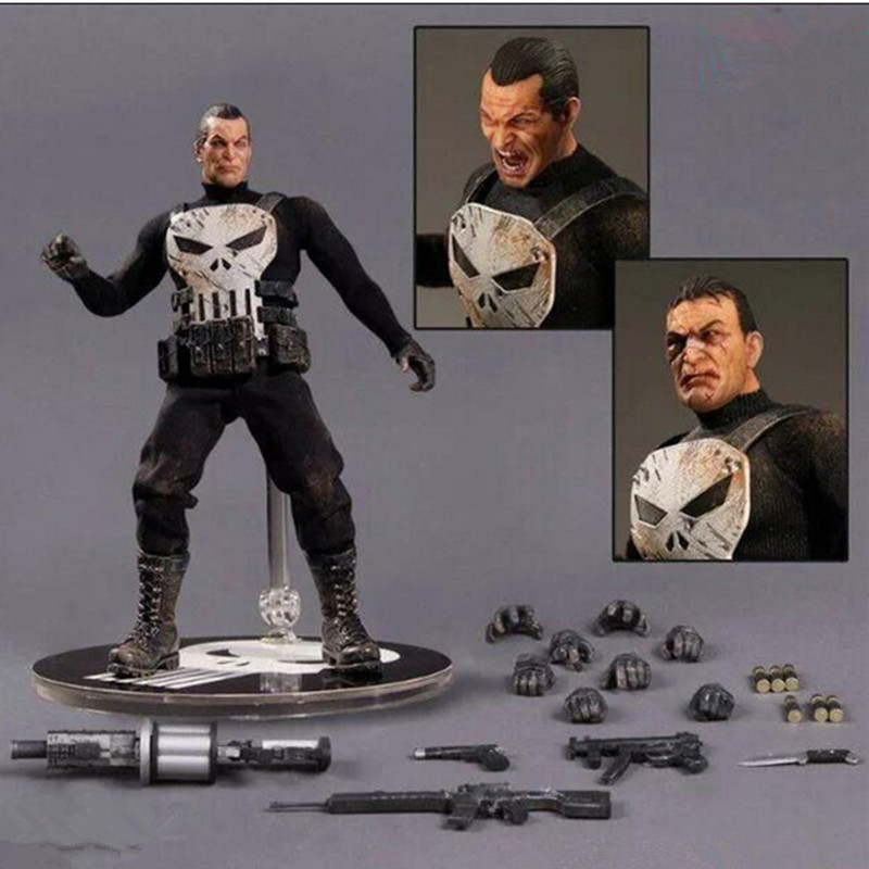The Amazing Spider-Man Punisher Frank Castle Anti-Hero PVC Cartoon Action Figure Collectible Model Toy L2136 spiderman toys super hero the amazing spider man pvc action figure collectible model toy for kids christmas gift 13cm n030