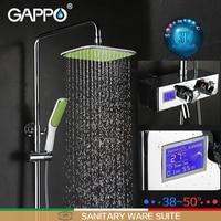 GAPPO Shower Faucet Bathtub Faucet Mixer Shower Mixer Tap Rainfall Bathroom Shower Mixers Thermostatic Wall Mount