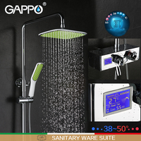 GAPPO Shower Faucet Bathtub Faucet Mixer Shower Mixer Tap Rainfall Bathroom Shower Mixers Thermostatic Wall Mount