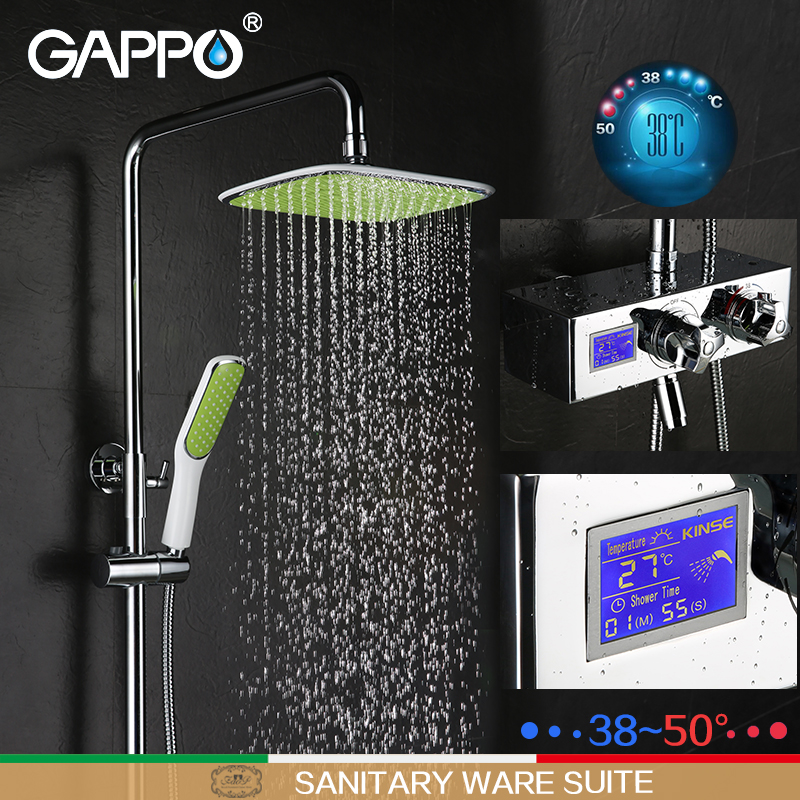 GAPPO shower faucet bathtub faucet mixer shower mixer tap rainfall bathroom shower mixers thermostatic Wall Mount faucets gappo bathtub faucet thermostatic shower mixers in wall faucets shower faucet thermostatic thermostat taps