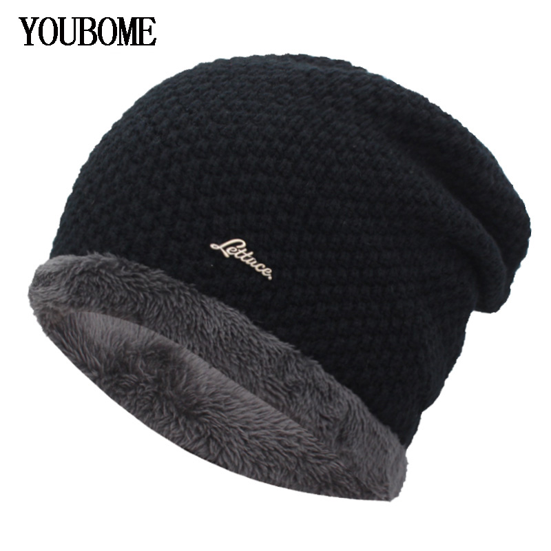 YOUBOME   Skullies     Beanies   Winter Hats For Men Knitted Hat Women Male Hat Baggy Warm Bonnet Gorras Balaclava Caps Bonnet Hats Caps
