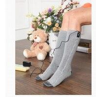 Электрический Носки Отопление теплые ноги пол носки Нагреватель Теплее инструменты для самостоятельного ухода мужской и женский общие