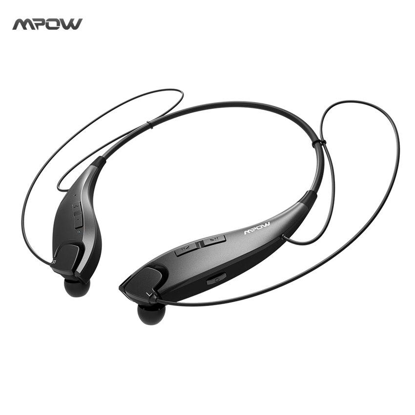 bilder für 2017 NEUE Mpow Backen Drahtlose Bluetooth 4,1 Kopfhörer Hals Halfter-stil Headset Kopfhörer APTX Freisprechfunktion für Smartphones