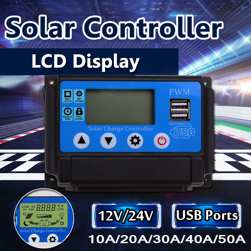 10A/20A/30A/40A/50A Solar Charge Controller Regulator 12/24V Automatic Identification PWN Solar Panel Battery Charge Controller10A/20A/30A/40A/50A Solar Charge Controller Regulator 12/24V Automatic Identification PWN Solar Panel Battery Charge Controller