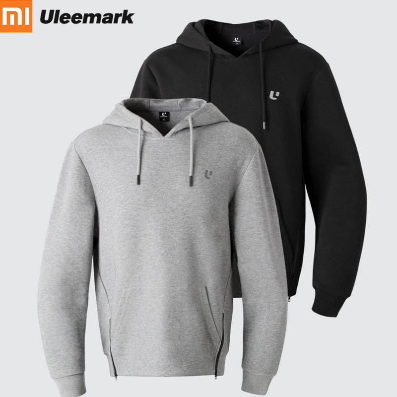 Original Xiaomi Uleemark Men zipper Coat Windproof Jacket with Hat Unique tailoring Sporty Sweatshirt for Outdoor