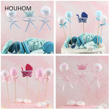 Baby Shower Cupcake Toppers Muslim Baking Boy Girl Christening Blue 1st Birthday Party Decorations Kids Event Party Diy Decor