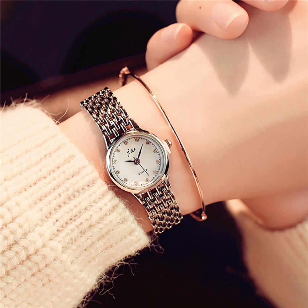 גבירותיי עדין קטן חיוג שעון שעון יוקרה נירוסטה צמיד קוורץ יד שעונים ספורט שעון Relogio Feminino # YY