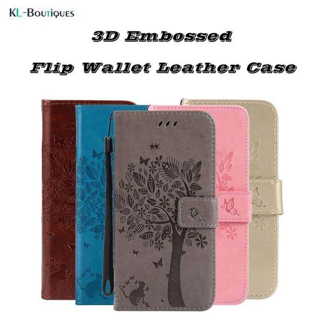 66d4551fc4c Honor 7A Pro Flip caso en para Huawei Y6 2018 Coque 3D cuero de la carpeta