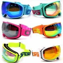Брендовые лыжные очки, сферические поверхности, двойные линзы, UV400, анти-туман, большая Лыжная маска, очки для катания на лыжах, для мужчин и женщин, очки для сноуборда