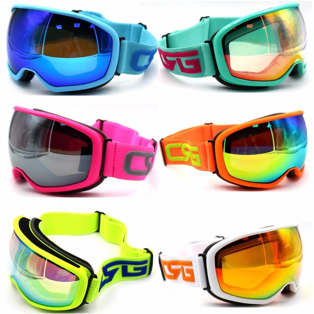 Brand Ski Goggles Spherical Surface Double Lens UV400 Anti Fog Big Ski Mask Glasses Skiing Men
