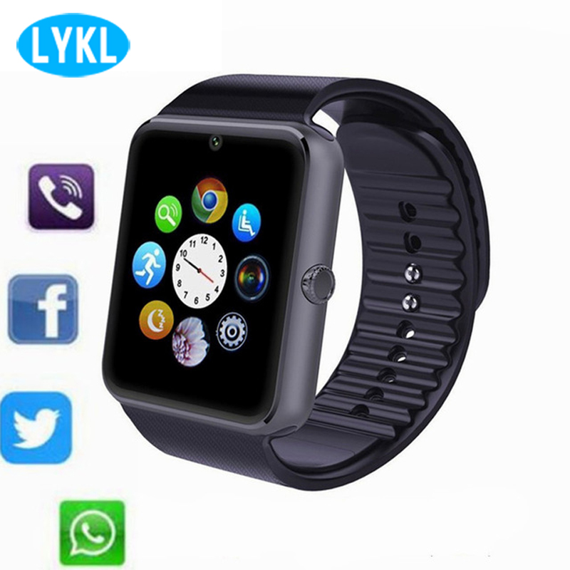 GT08 Smart Watch Phone Bluetooth Smartwatch Android Sports Wristwatch Support SIM TF Camera Connectivity ISO Android SmartWatch