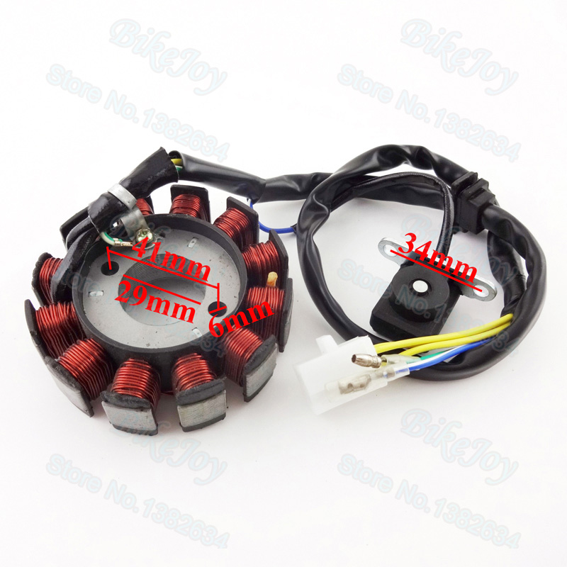 Magneto Ignition Stator Coil 12 Poles for GY6 125cc 150cc Moped Scooter ATV Quad Go Kart Motocross Motorcycle Motorbike go-kart