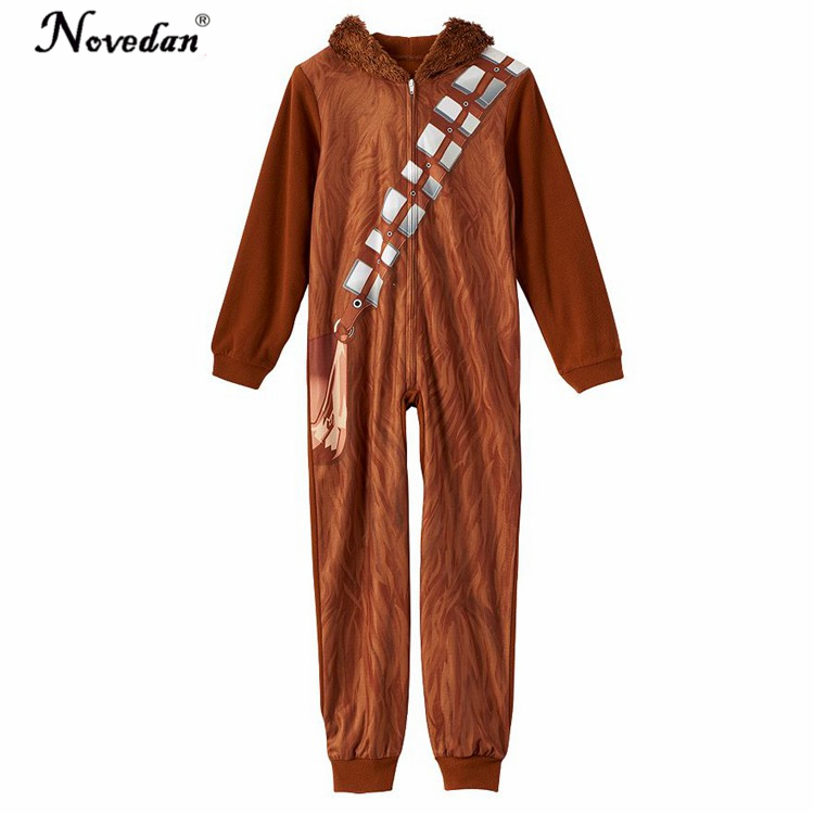 Star Wars Chewbacca Costume Cosplay Onesie Pajamas Halloween Party Costumes For Kids Boy