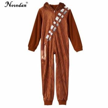 cf0f448786 Star Wars Chewbacca disfraz Cosplay Onesie pijamas fiesta de disfraces de  Halloween para niños
