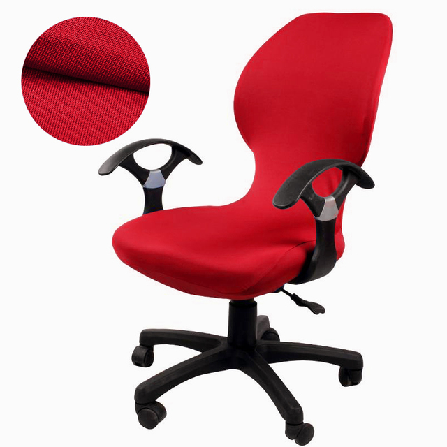 Универсальный размер Компьютерная накидка на офисный стул моющаяся Съемная крышка кресла Slipcover растягивающиеся вращающиеся Чехлы для кресел