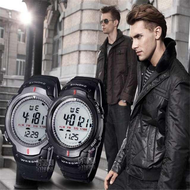 Military Wristwatch Sports Men LED Electronic Watch Fashion Digital Wrist Watches Mens Outdoor Life Waterproof Watch Hot sale