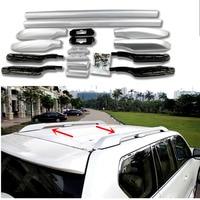 Silver Car Accessories Luggage Carrier Bar Top Roof Rails Rack Bars Fit For Toyota Land Cruiser Prado FJ150 J150 2010 2018