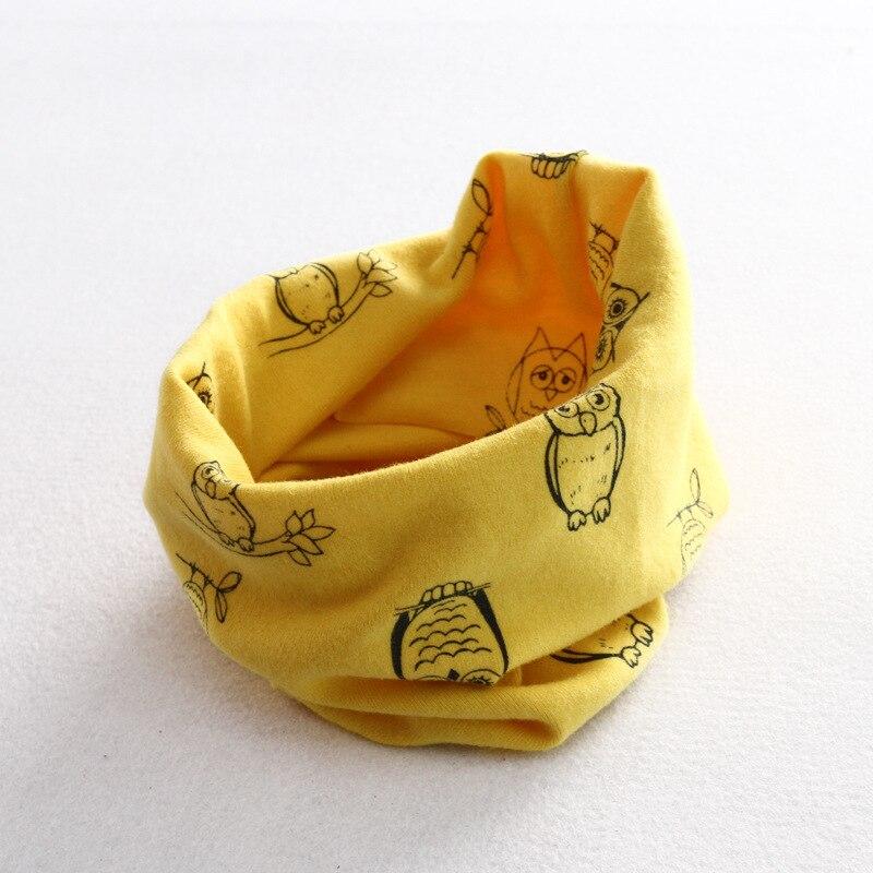 Осенне-зимний детский хлопковый шарф для девочек и мальчиков теплые шарфы Детский круглый кольцевой ошейник Детский шарф детский волшебный шейный платок - Цвет: owl 5