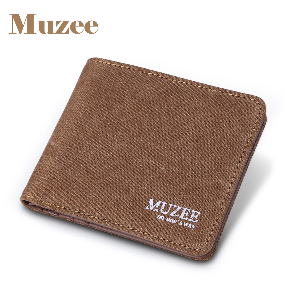 2017 Muzee Canvas Mens Wallets Top Quality Wallet Card Holder Multi Pockets Credit Cards Purse Male Simple Design Brand Purse 2017 new retro man canvas wallets male purse fashion card holders small zipper wallet new designed multi pockets purse for male