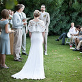 Новый Богемный Свадебное Платье 2016 Роскошный Белый Шифон Beach Свадебные платья Из Бисера Русалка Свадебное Платье платье-де-noiva де renda