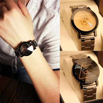 Fashion creative unique dial design lovers' watch Stainless Steel wristwatches