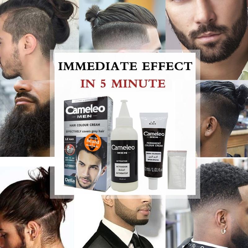 Delia Cameleo Colour Cream Beard & Mustache Grey Hair Dye Cream+ ...