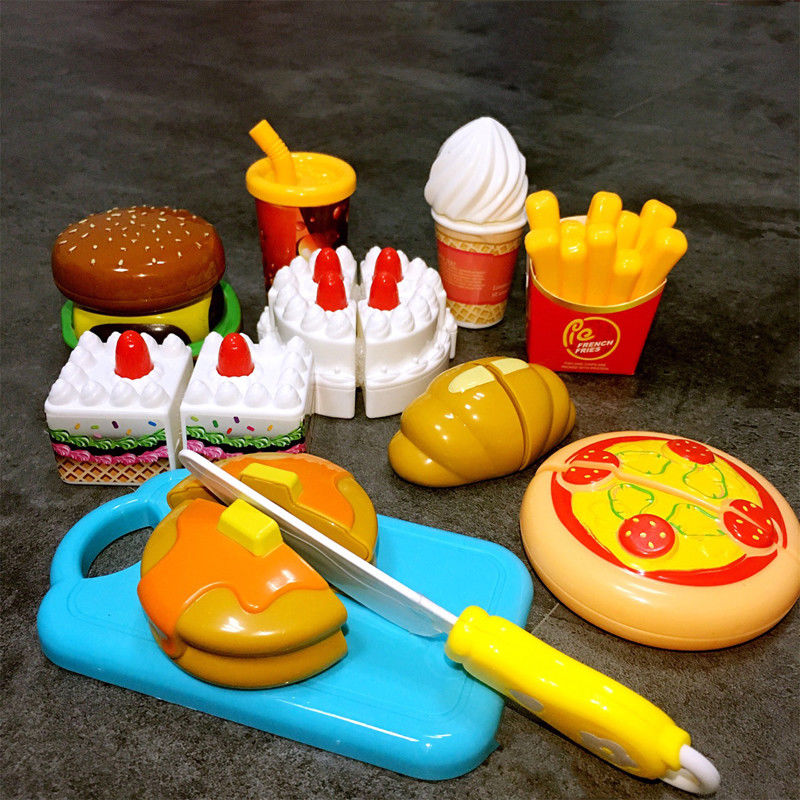 Dollhouse Miniatures Miniatura Para Casa De Muñecas 5 Pieza Hamburguesa Con Queso Reutilizable The Latest Fashion