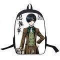 Preto Anime japonês Butler Backpack Children School Bolsas Dos Desenhos Animados Adolescente Mochilas Mochilas Saco de Viagem Mochila de Estudante
