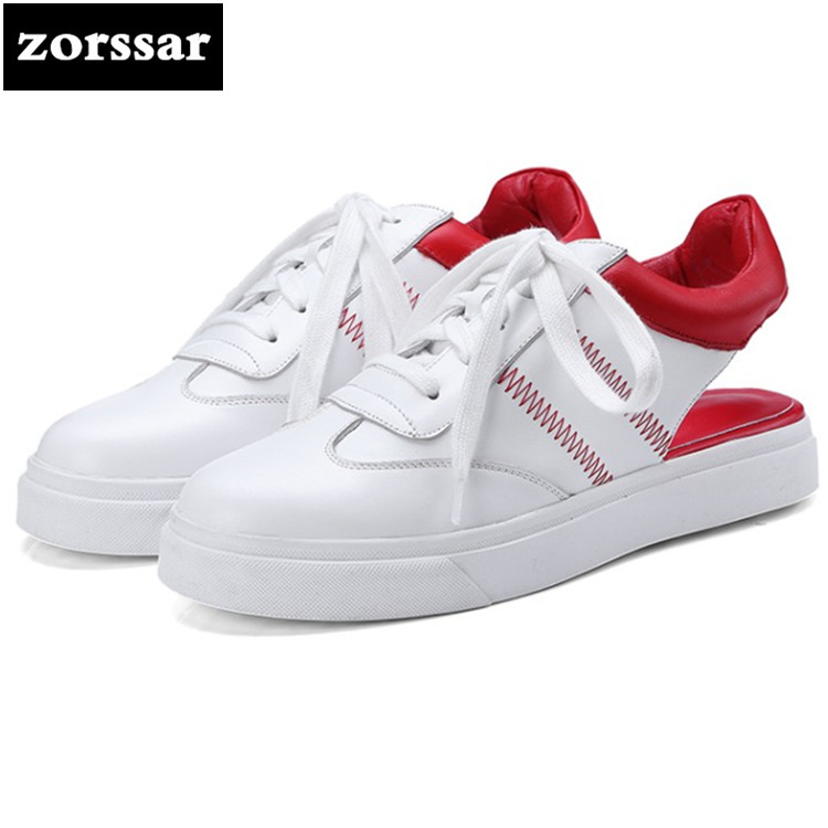 {Zorssar} 2018 Summer Breathable Handmade Shoes Fashion sneakers Comfortable Women Flats Casual Shoes Sandals