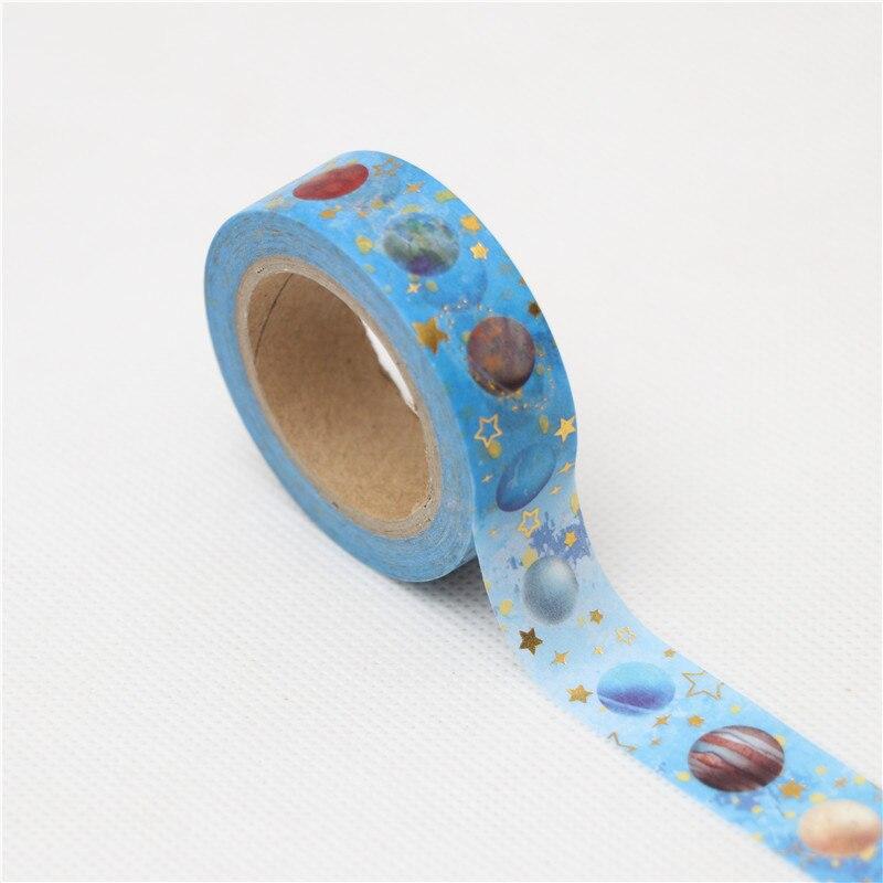 15mm*10m Beautiful Universe Planet Decorative Washi Tape DIY Scrapbooking Masking Tape School Office Supply Escolar Papelaria
