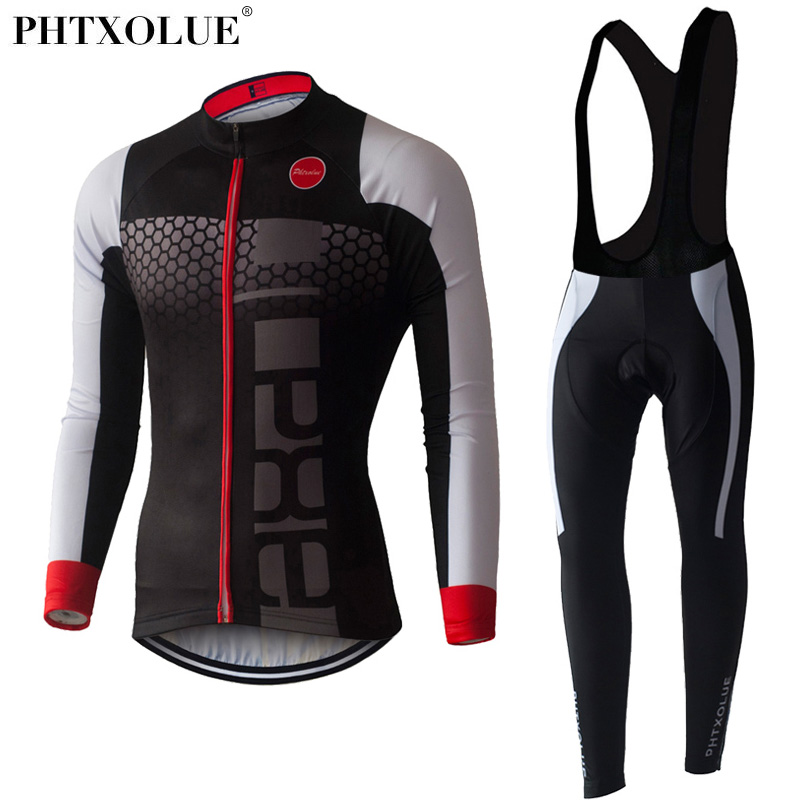 PHTXOLUE Long Sleeve Cycling Set 2017 Mtb Jersey Bike Wear Clothes Ropa Ciclismo Winter Thermal Fleece Cycling Clothing Men byncg wireless car reverse reversing dual backup rear view camera for trucks bus excavator caravan rv trailer with 7 monitor