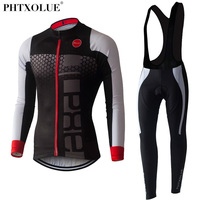 PHTXOLUE Long Sleeve Cycling Set 2017 Mtb Jersey Bike Wear Clothes Ropa Ciclismo Winter Thermal Fleece
