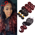 7A Mink Brazilian Hair Weave Bundles With Closure 3 Bundles With Closure Ombre Bundles With Closure Gossip Girl Hair Products