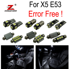 20pcs LED Interior dome map Lights reading bulb Kit Package for BMW X5 E53 (2000-2006)