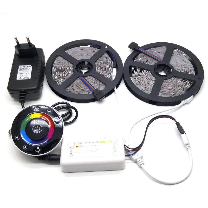 LED zolaq dəsti 10M SMD 5050 RGB + Simsiz RF toxunma nəzarətçisi - LED işıqlandırma - Fotoqrafiya 2