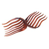 10pcs Bump It Up Volume Inserts Hair Clip For Ponytail Bouffant Styles Hair Comb Coffee