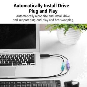 Image 3 - Ugreen kabel USB na PS2 męski na żeński Adapter PS/2 konwerter przedłużacz do klawiatury mysz skanująca pistolet PS2 na kabel USB