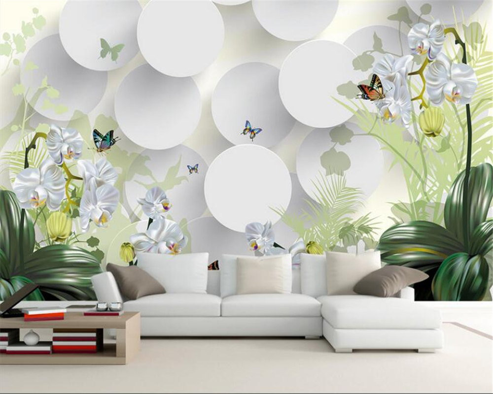 Beibehang 3D Wallpaper Clivia Ornament TV Wall Background Wallpaper 3d Mural photo wallpaper for walls 3 d papel de parede mural beibehang custom marble pattern parquet papel de parede 3d photo mural wallpaper for walls 3 d living room bathroom wall paper