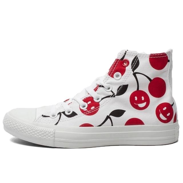 cb4f99644a6e Original Converse all star shoes high women s sneakers canvas for Manual  graffiti black white women classic Skateboarding Shoes