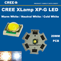 10pcs X Cree Xpg 1-5W LED Emitter Natural White 3700-4200K Cold White ;Warm White LED with 20mm Star PCB DIY Flashlight Bulb