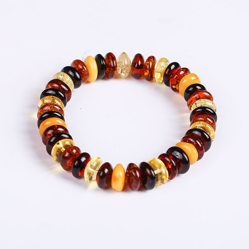 Nice guy original pure natural amber beeswax diy hand string bracelet bead pendant original stone polished female custom BT0028 genuin nice guy original pure natural amber beeswax diy hand string bracelet bead pendant original stone polished female custom